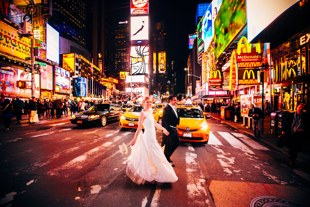 after wedding new york time sqare